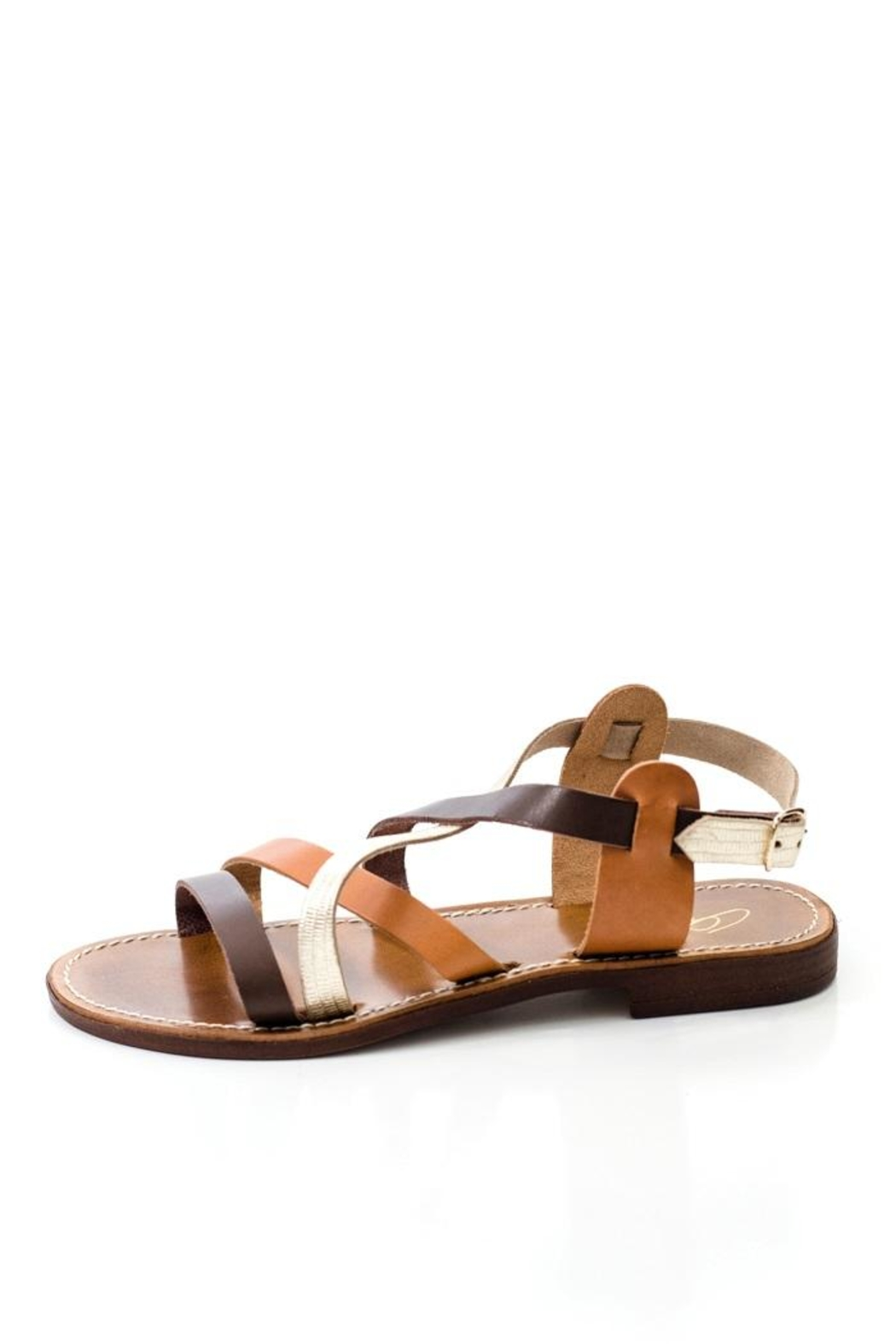 Lady Doc Multi-Strap Brown Sandal - Front Cropped Image