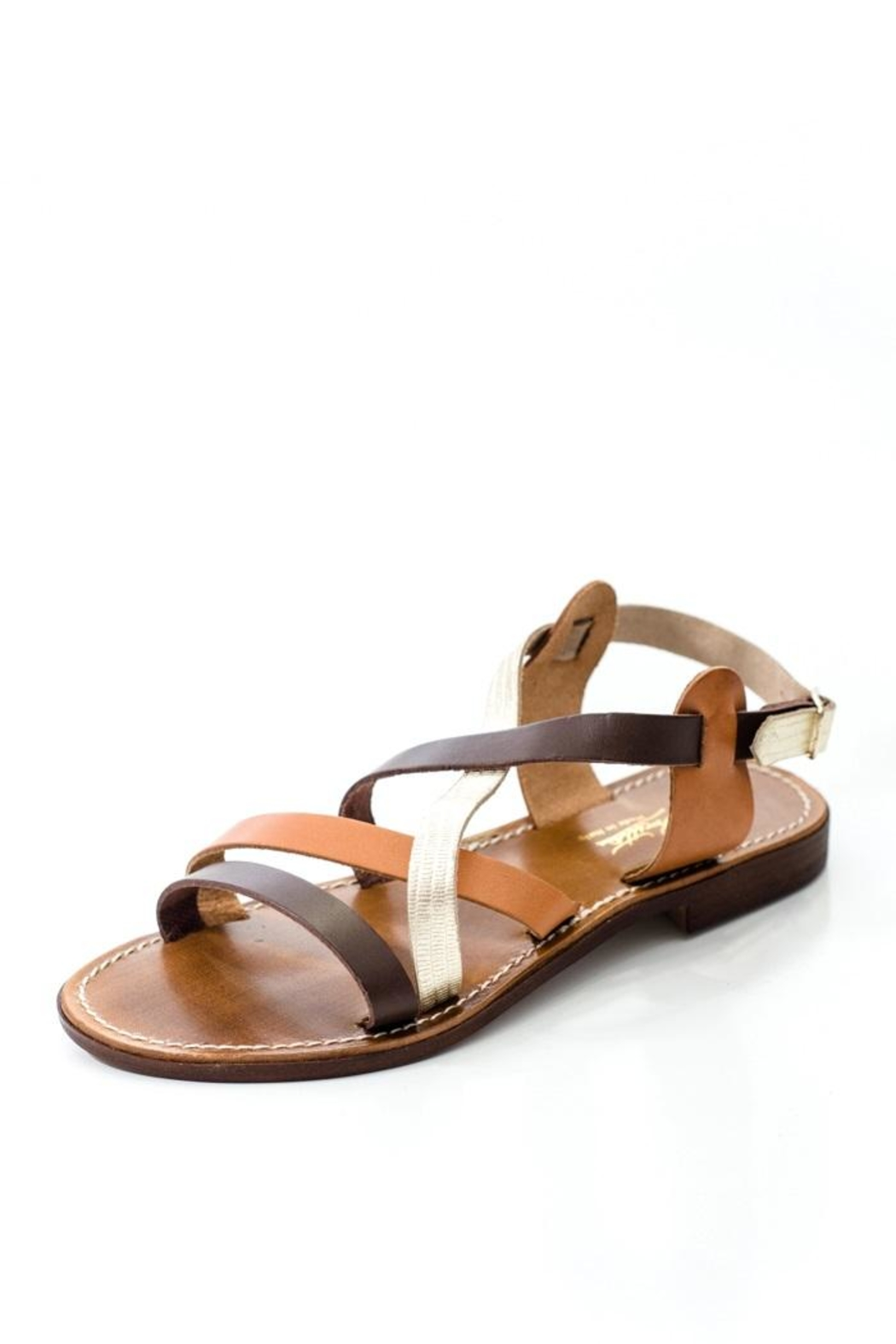 Lady Doc Multi-Strap Brown Sandal - Main Image