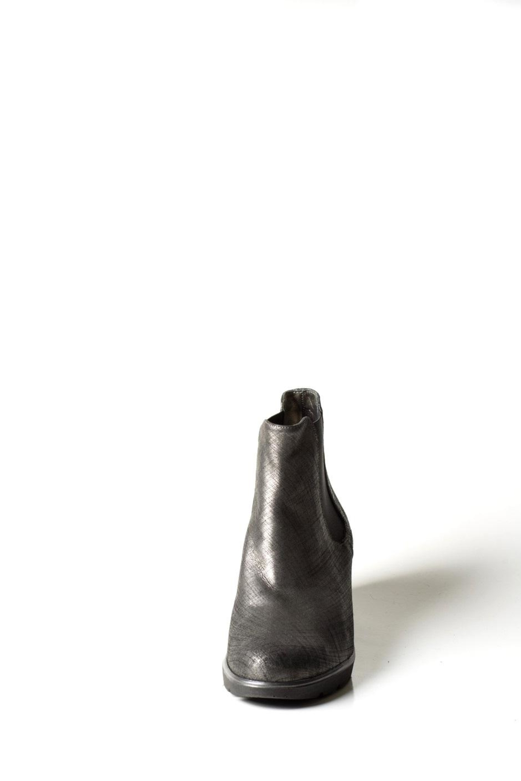 Lady Doc Steel-Grey Wedge Boot - Front Full Image