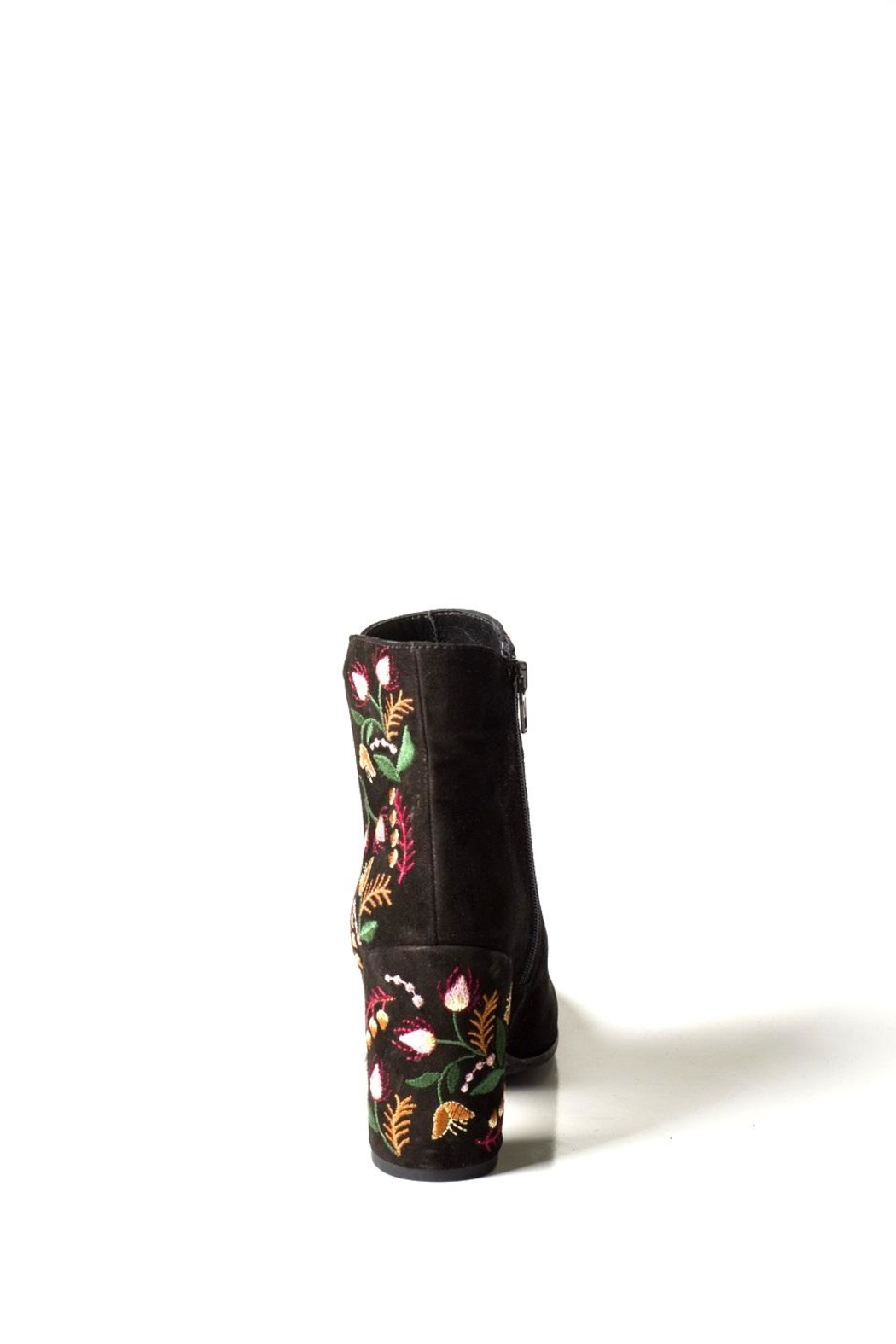 Lady Doc Suede-Embroidered Heeled-Boot - Back Cropped Image