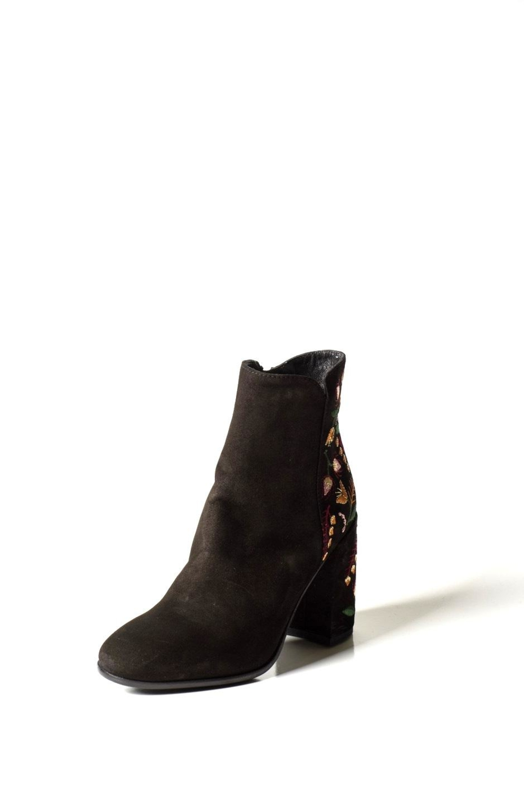 Lady Doc Suede-Embroidered Heeled-Boot - Main Image