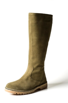 Shoptiques Product: Tall Green-Suede Boot