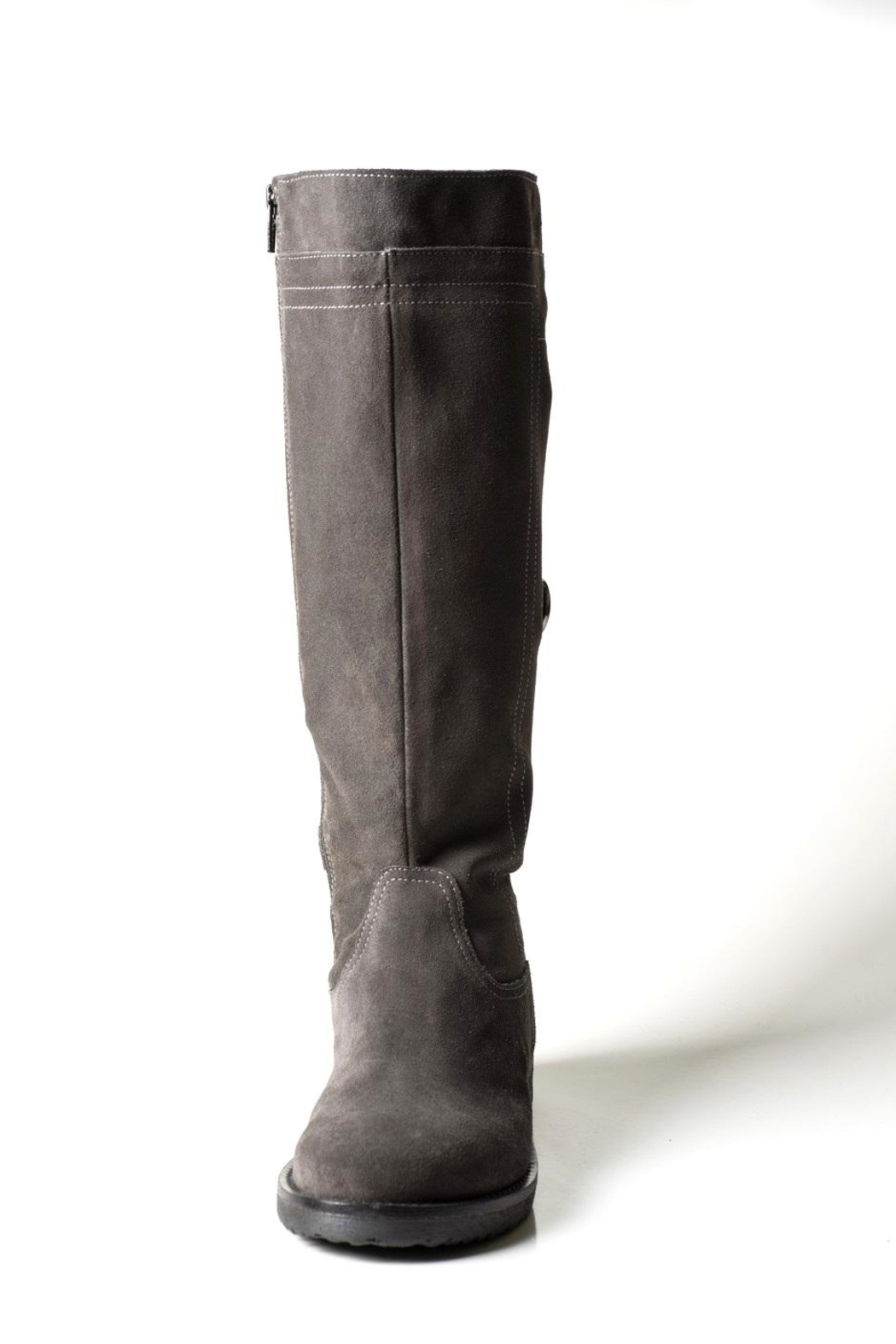 Lady Doc Tall Grey-Suede Boot - Front Full Image