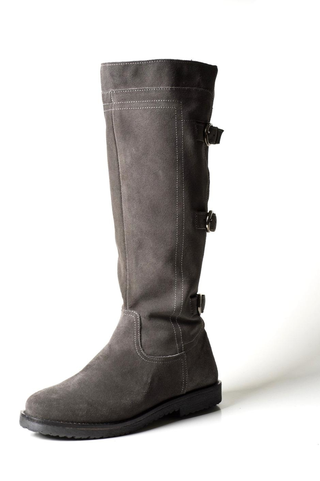 Lady Doc Tall Grey-Suede Boot - Main Image