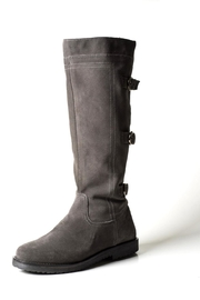 Lady Doc Tall Grey-Suede Boot - Front cropped