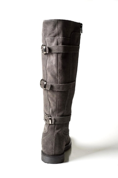Lady Doc Tall Grey-Suede Boot - Alternate List Image