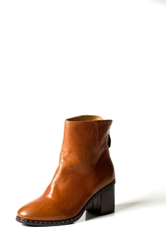 Lady Doc Tan Stud Ankle-Boot - Product List Image