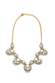 Ladyfingers White Statement Necklace - Front cropped