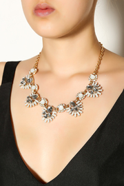 Ladyfingers White Statement Necklace - Back cropped