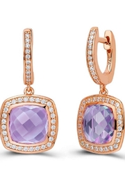Lafonn Amethyst Earrings - Front cropped