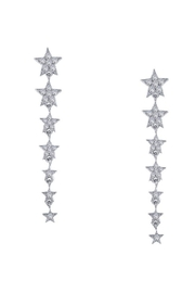Lafonn Graduated Star Earrings - Product Mini Image