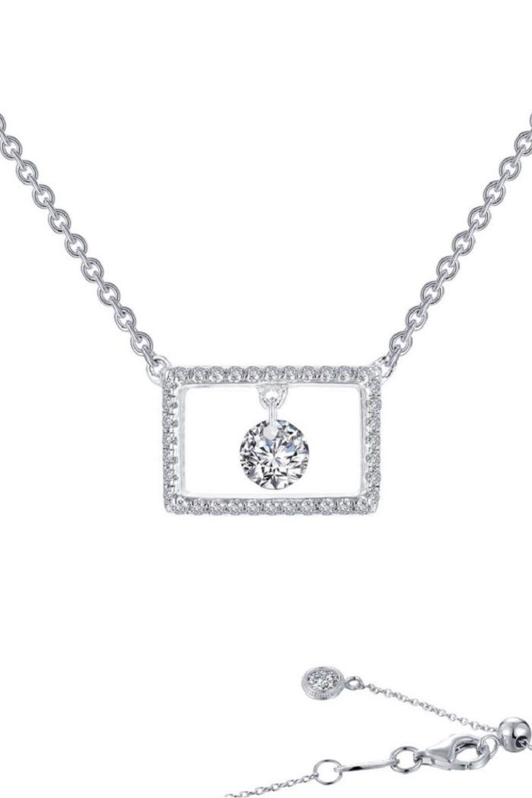 Lafonn Rectangular Dangle Necklace - Front Cropped Image