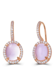 Lafonn Rose Quartz Earrings - Product Mini Image