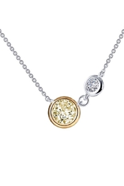 Lafonn Round Bezel Two Stone Necklace - Product Mini Image