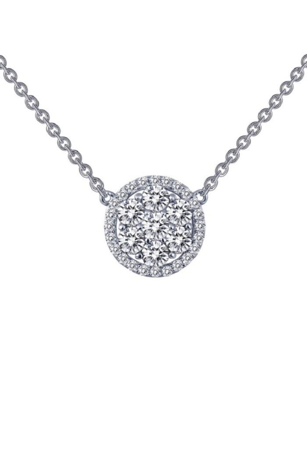 Lafonn Round Halo Cluster Necklace - Main Image