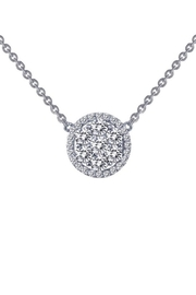 Lafonn Round Halo Cluster Necklace - Front cropped