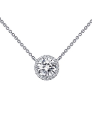 Lafonn Round Halo Necklace - Front cropped