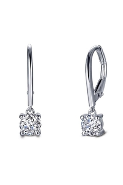 Lafonn Round Solitaire Drop Earrings - Alternate List Image