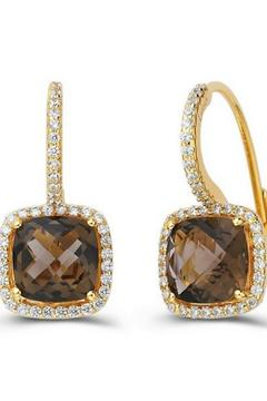 Shoptiques Product: Smoky Quartz Earrings