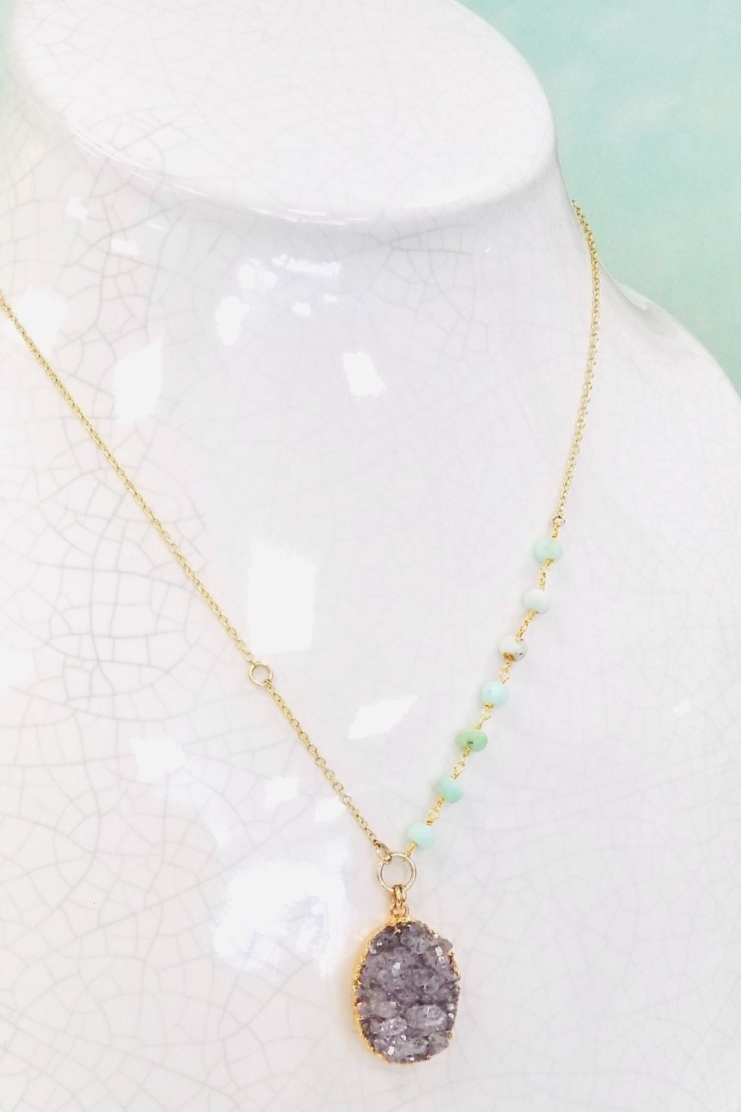 Lotus Jewelry Studio Lagoon Necklace - Side Cropped Image
