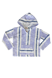 Vintage Havana  Lagoon Striped Hoodie - Product Mini Image