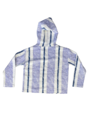 Vintage Havana  Lagoon Striped Hoodie - Front full body