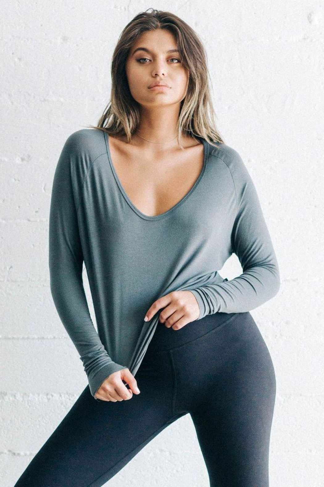 Joah Brown Laid Back Long-Sleeve - Front Cropped Image