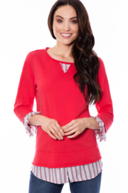 Multiples Casual Crew Neck Top - Product Mini Image