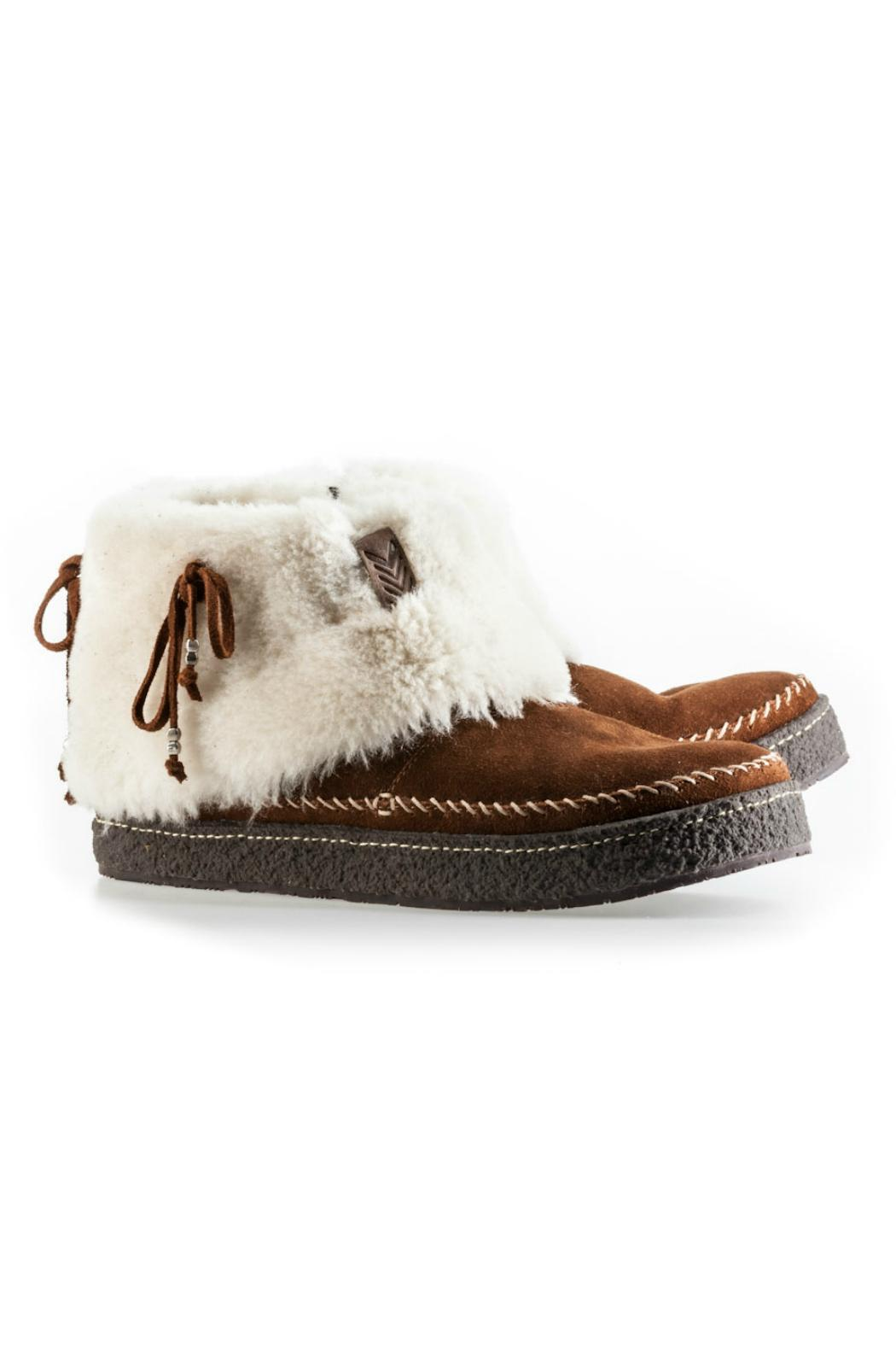 Laidback London Fur-Lined Bootie - Side Cropped Image