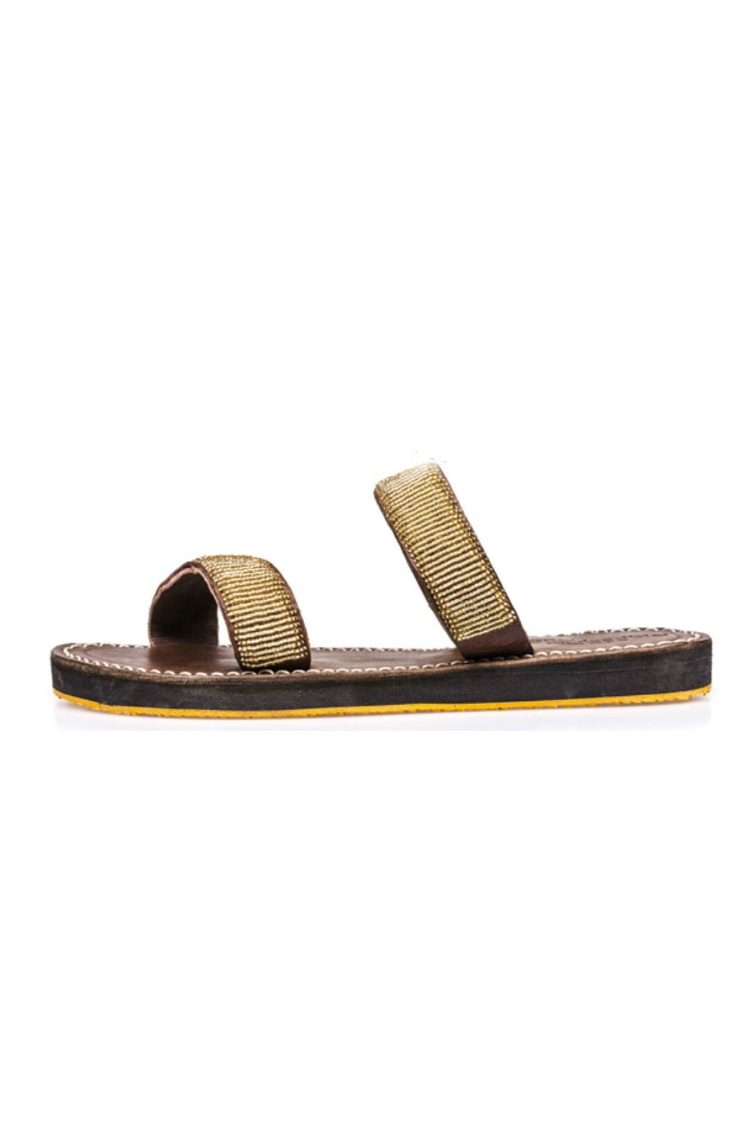 Laidback London Two Strap Sandal - Front Cropped Image