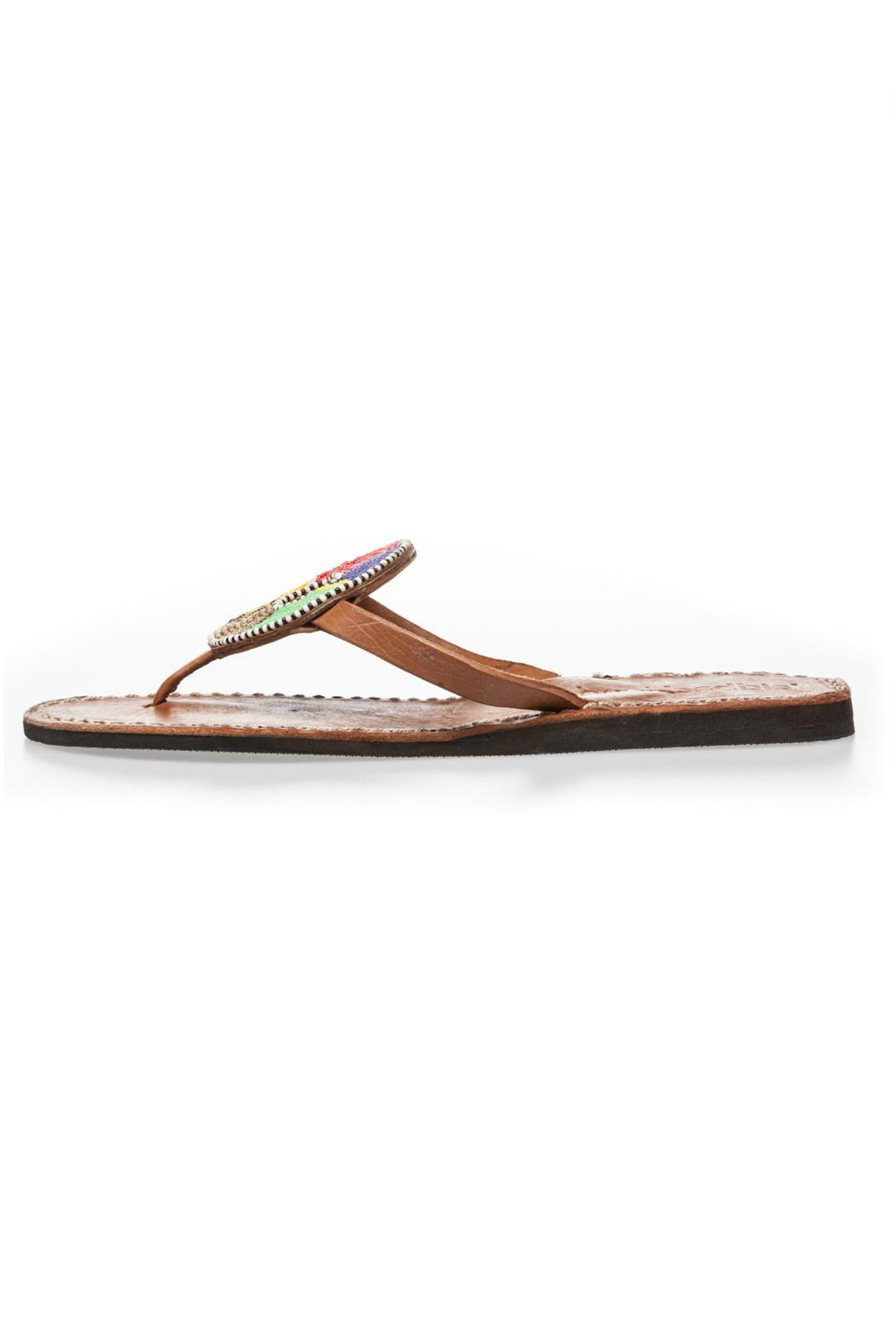 Laidback London Handmade Beaded Flip-Flop - Main Image