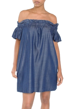 Shoptiques Product: Chambray Off-Shoulder Dress