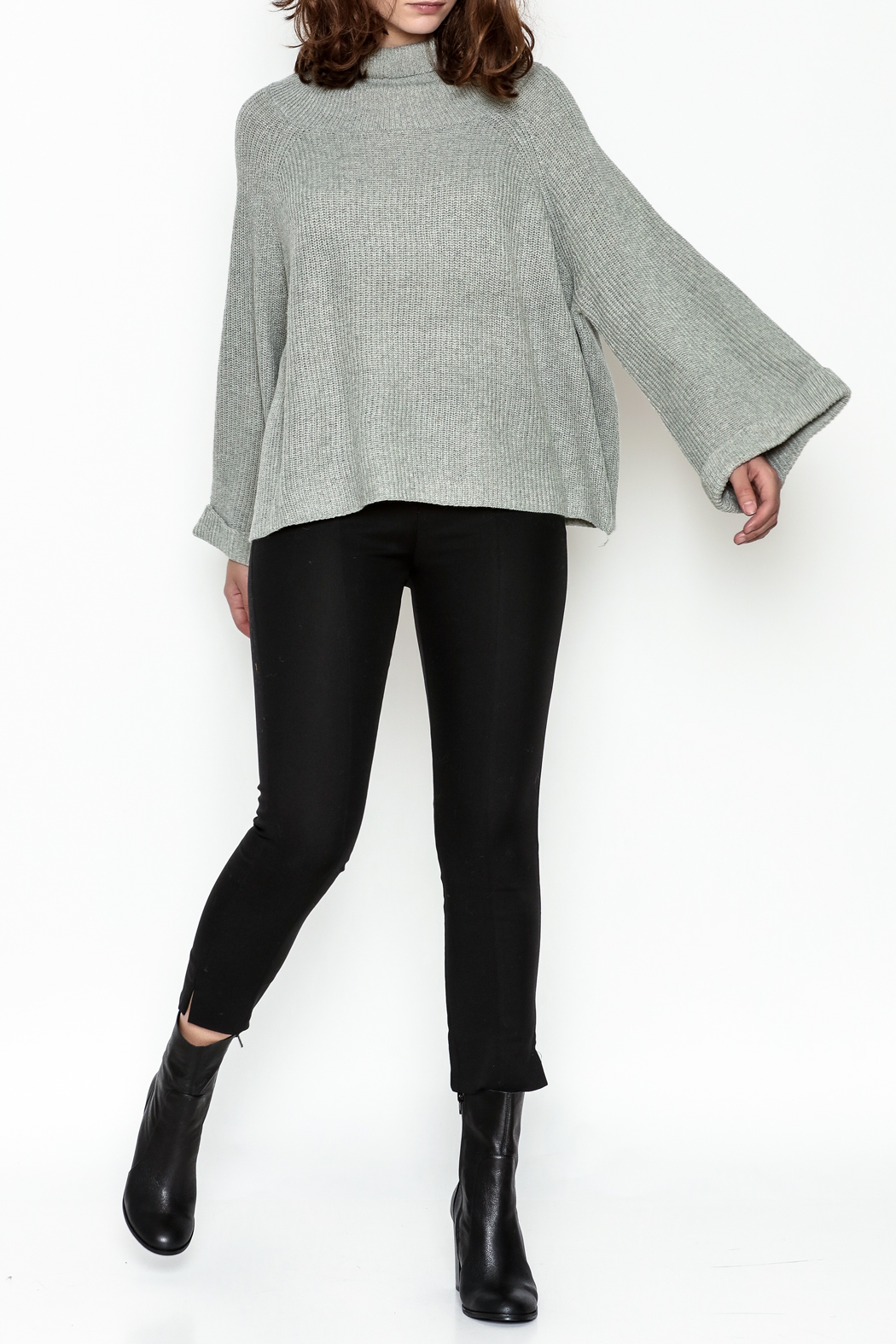 Laju Cowl Neck Sweater - Side Cropped Image