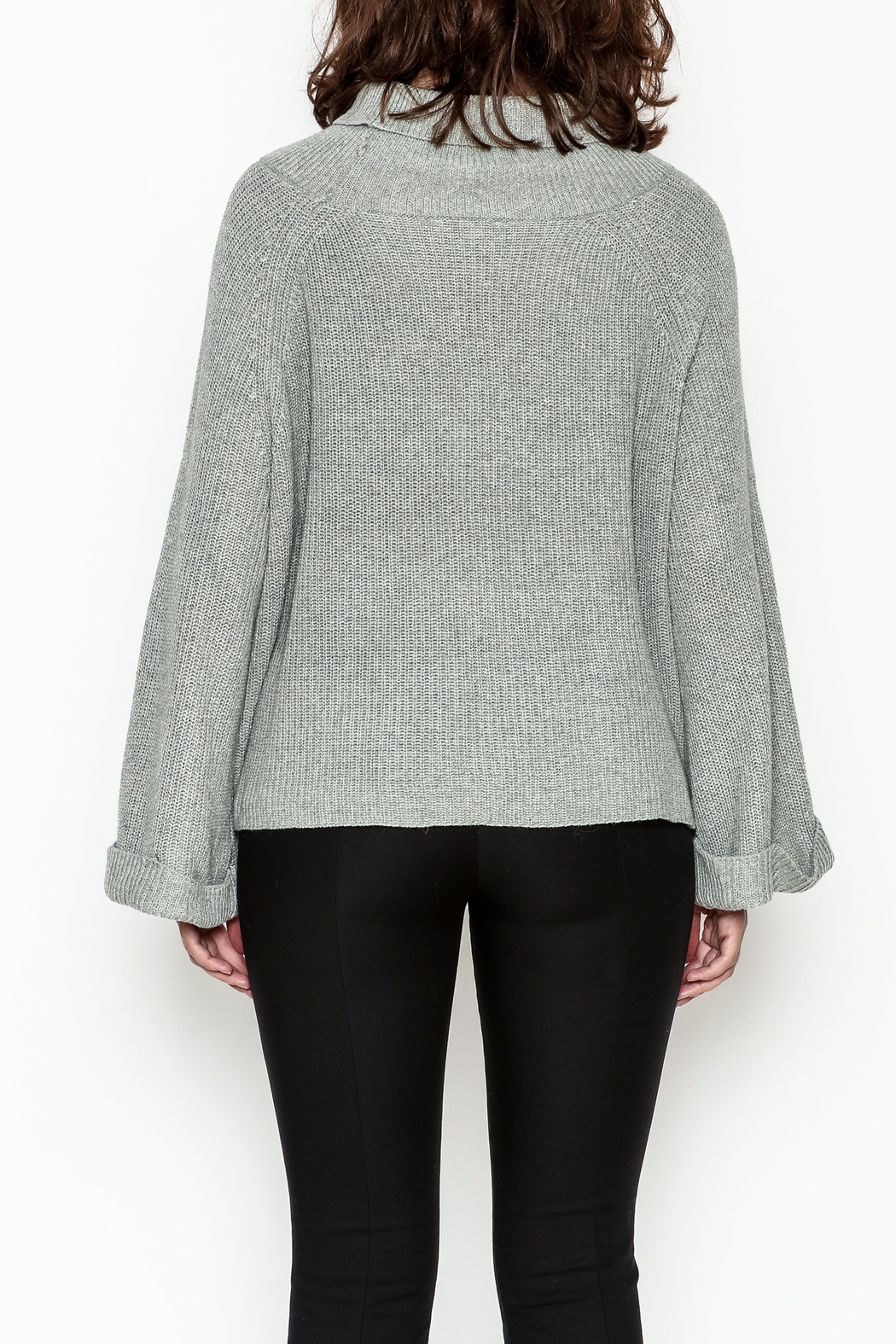Laju Cowl Neck Sweater - Back Cropped Image