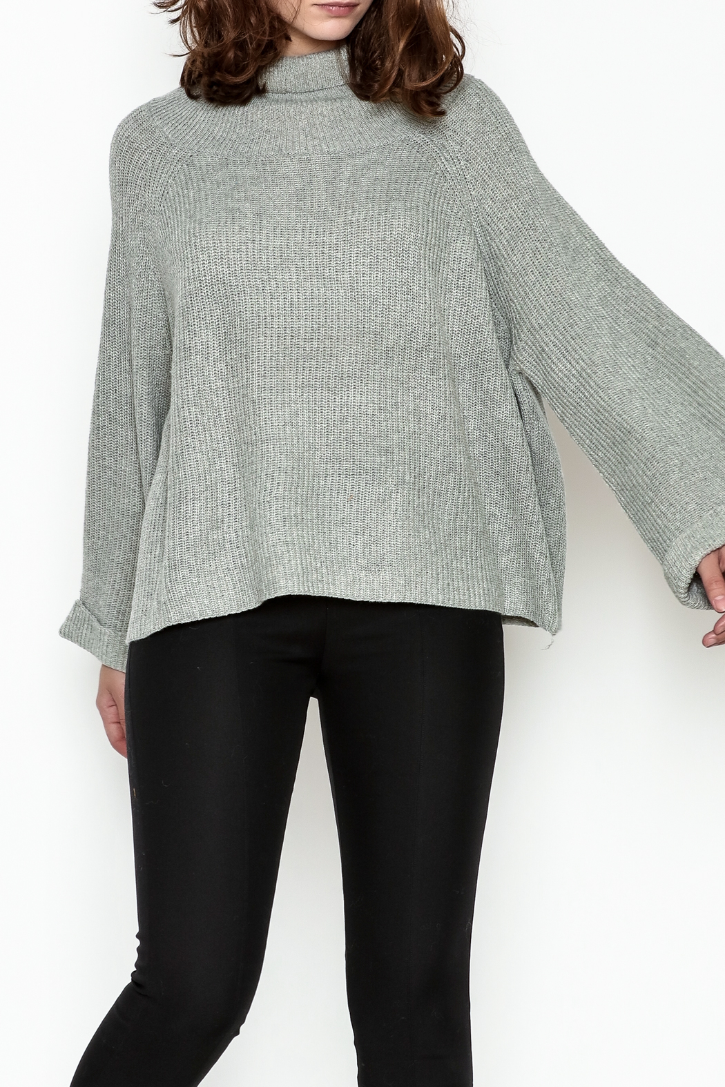 Laju Cowl Neck Sweater - Front Cropped Image