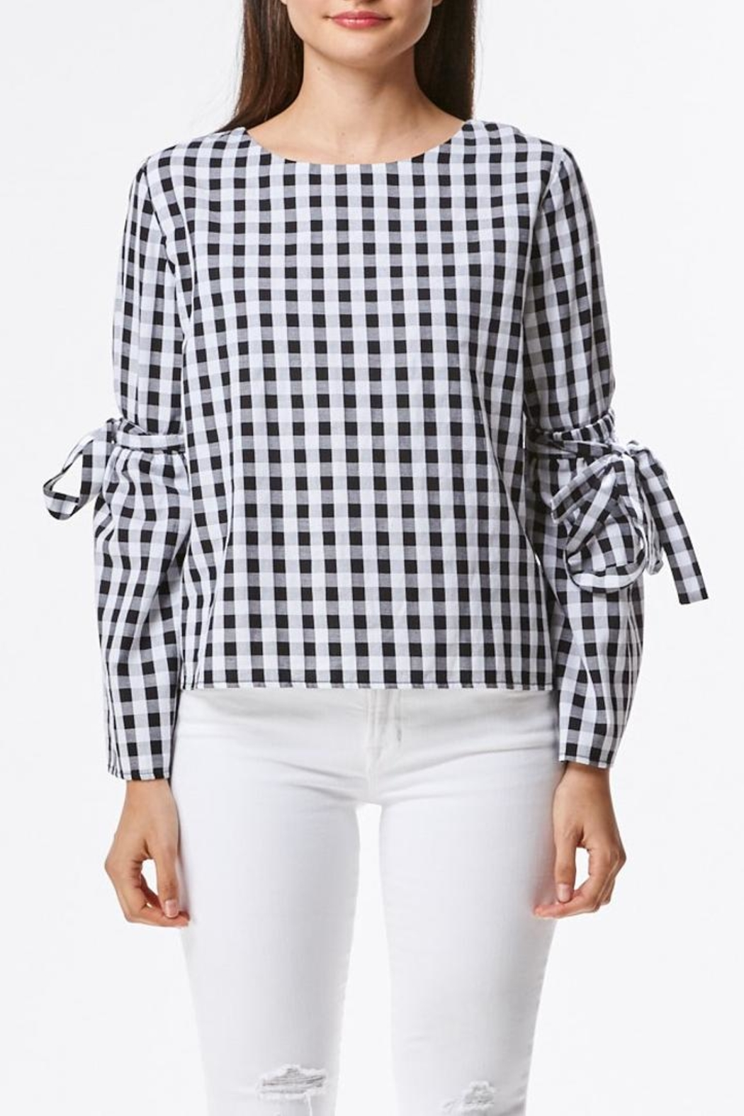 Laju Gingham Top - Front Cropped Image
