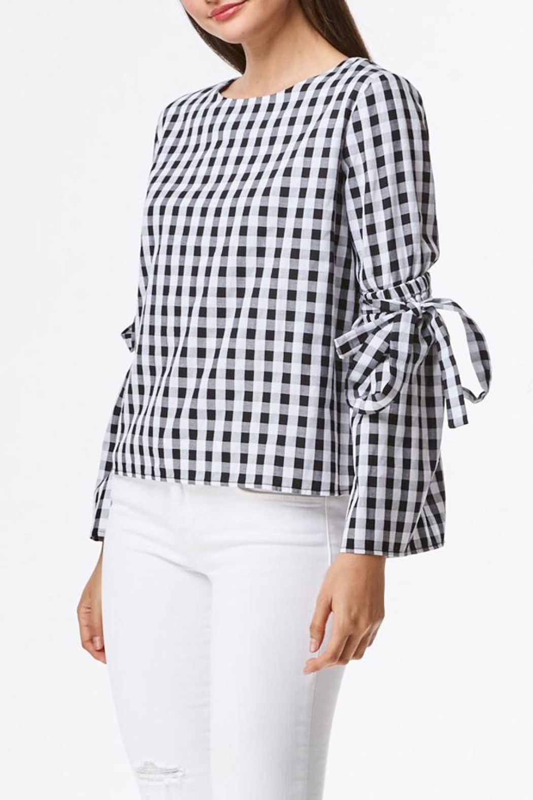 Laju Gingham Top - Side Cropped Image