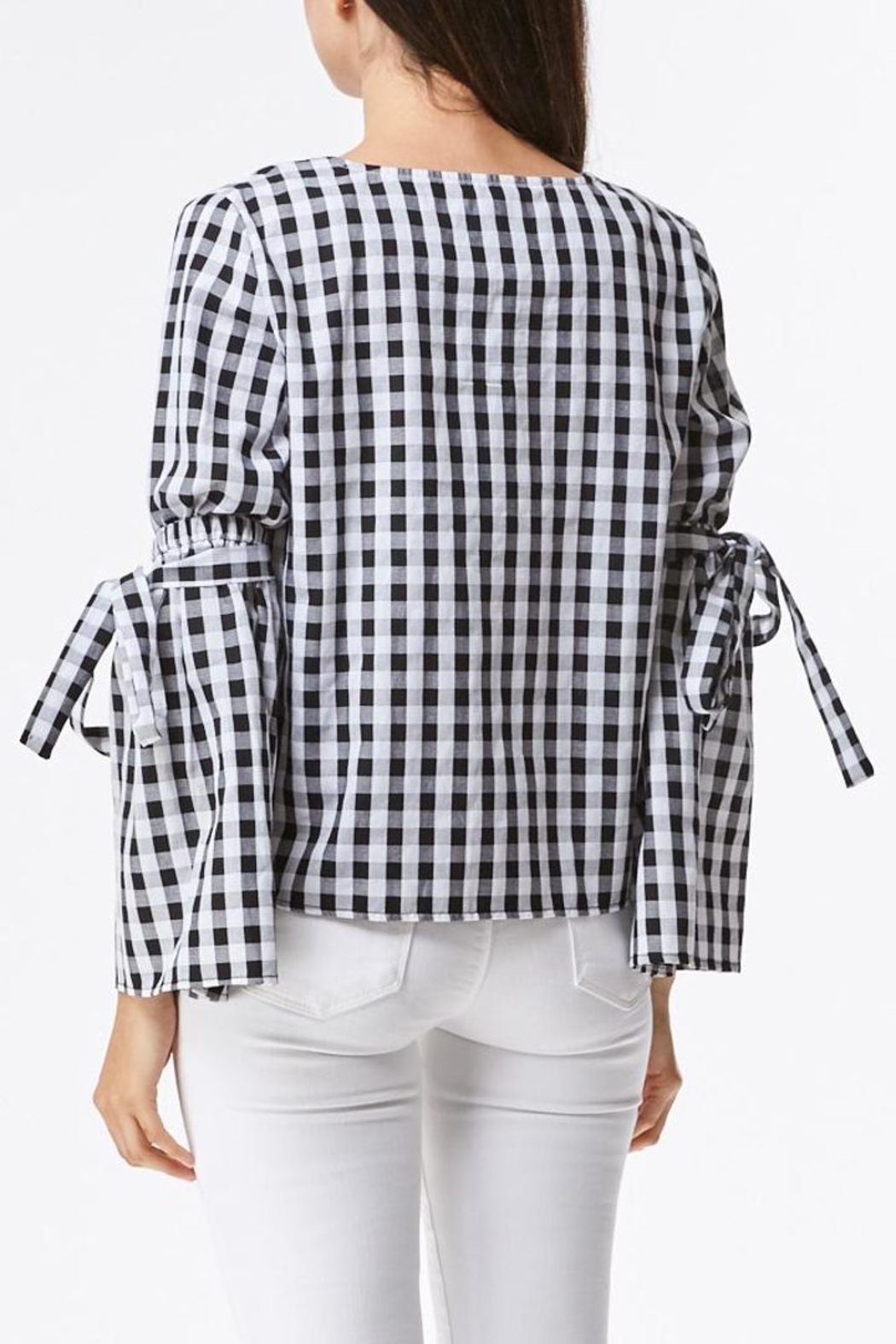 Laju Gingham Top - Front Full Image