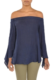 Laju Navy Off Shoulder Top - Product Mini Image