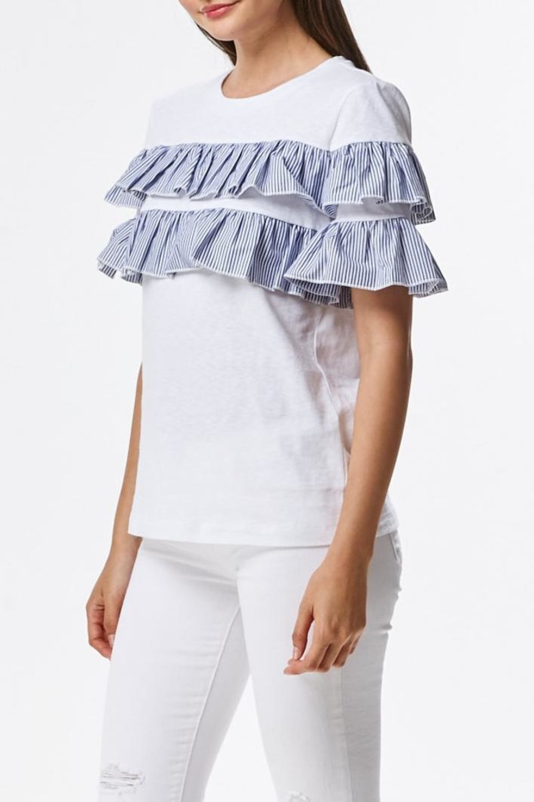 Laju Ruffle Front Top - Side Cropped Image