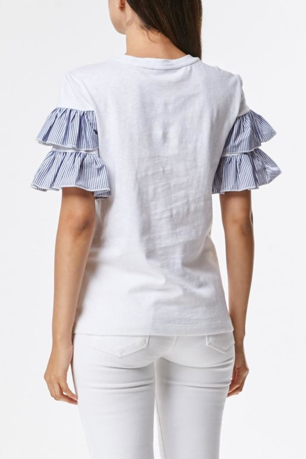 Laju Ruffle Front Top - Front Full Image