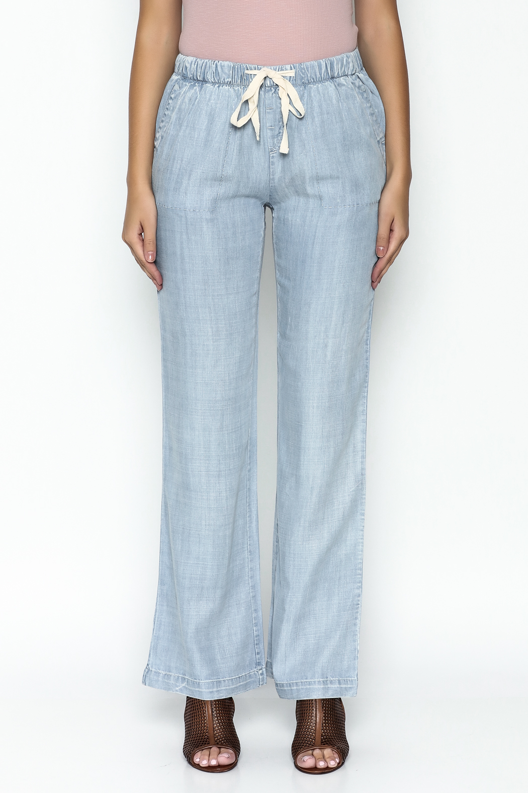 Laju Tencel Flare Jeans - Front Full Image