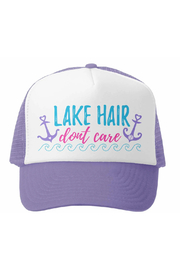 Grom Squad Lake Hair Don't Care Trucker Hat - Product Mini Image