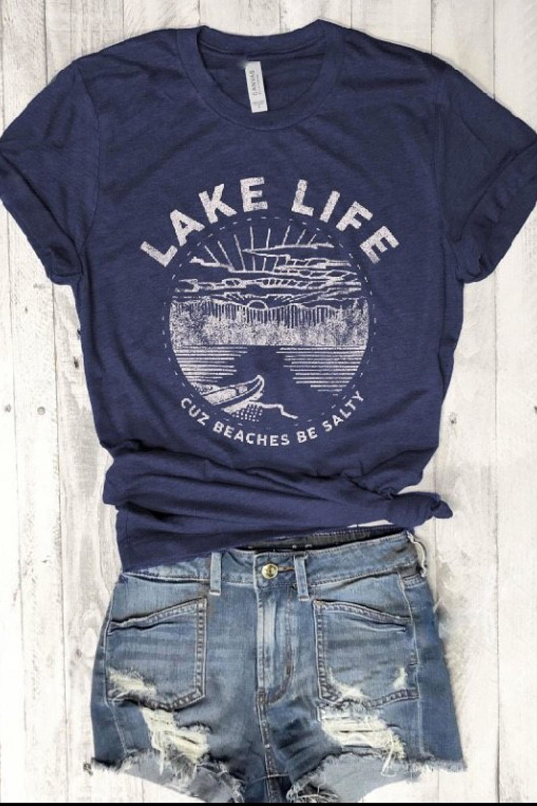 Style Trolley Lake Life Tee - Front Full Image