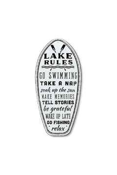 Abbott Collection Lake Rules Sign - Alternate List Image