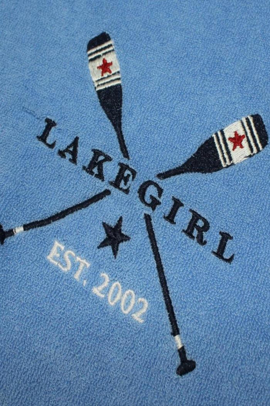 Lakegirl Patriotic Paddles Hoodie - Back Cropped Image