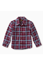 Tea Collection Lakeshore Plaid Baby Button Shirt - Front cropped