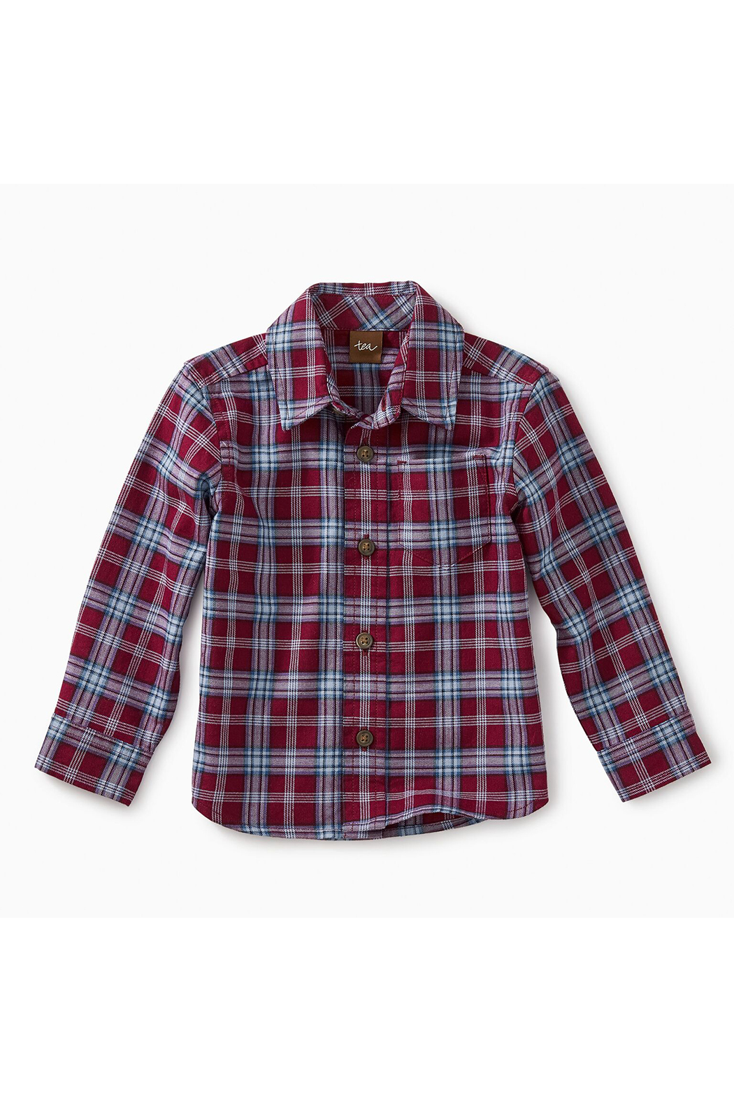 Tea Collection Lakeshore Plaid Baby Button Shirt - Main Image