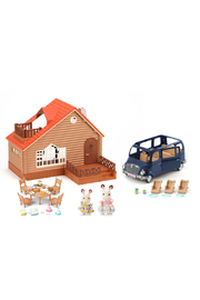 Calico Critters Lakeside Lodge Gift Set - Front cropped