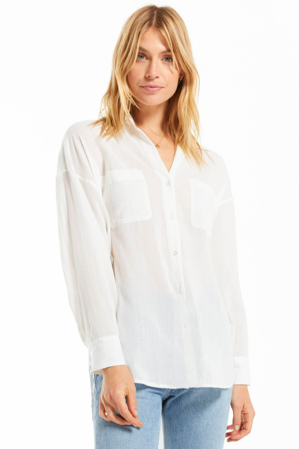 z supply Lalo Button Up Top - Front Full Image